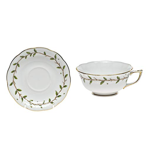 Herend Rothschild Garden Porcelain Tea Cup and Saucer