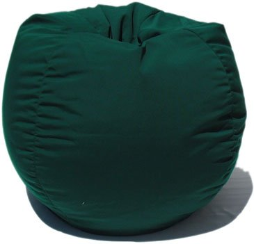 Sunbrella Indoor/Outdoor Bean Bag Chair in Hunter Green by BeanBagBlitz.com