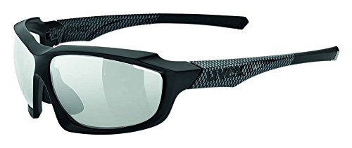 Uvex Sportstyle 710 VM Photochromic Sunglasses Black Matte Carbon, One Size - - Sunglasses Uvex Photochromic