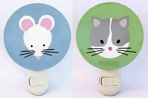 Tot Dots Night Lights - Cat and Mouse Pair