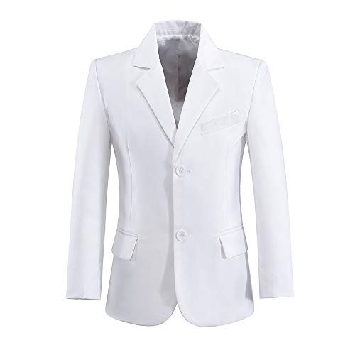 Blazer for Boys Suits First Communion Coat Dress Outfit White Size 4T -