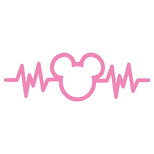 Mouse Adorable - Crawford Graphix Mickey Mouse Heartbeat Car Truck Vinyl Decal Art Wall Sticker USA Disney Fun Adorable Cute Life (6