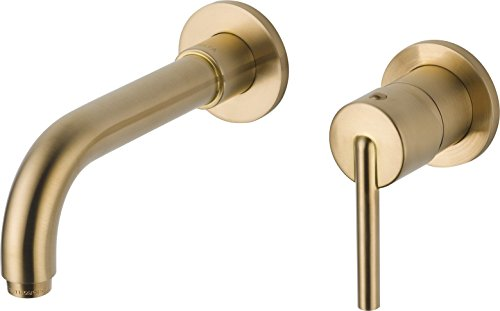 Delta Faucet T3559LF-CZWL Trinsic Single Handle Wall Mount Bathroom Faucet Trim, Champagne Bronze
