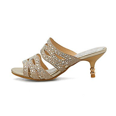 Party Women'S Rhinestone Kitten amp; Comfort UK4 Flip Flops Gold Dress Heel CN36 US6 S Summer Slippers Evening Casual Customized RTRY Materials amp; EU36 PqawddS