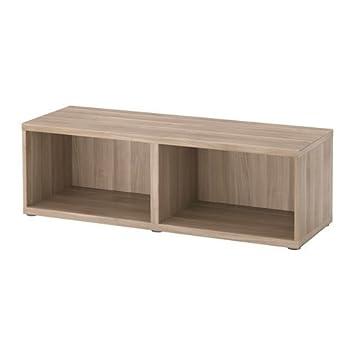 Ikea Besta Füße ikea besta korpus grau lasierte nussbaumnachbildung 120x40x38cm