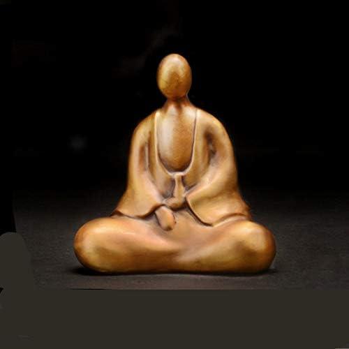 LKXZQB Boda Decoracion Figuras de Grandes Salon candelabros Jardin Exterior,Escultura Adornos Figuras Zen Pequeño Monje Artesanía Vida China: Amazon.es: Hogar