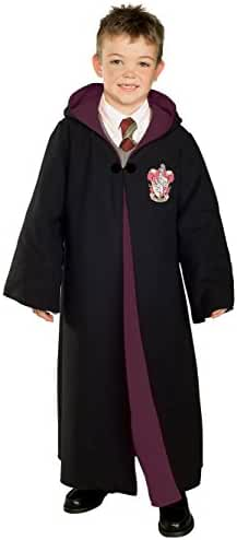 Rubie's Kid's Deluxe Harry Potter Gryffindor Robe Costume with Emblem, Large, Black