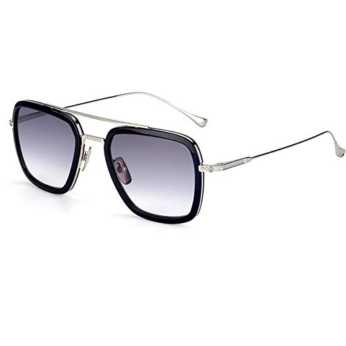 Spider Man Glasses Vintage Aviator Square Metal Frame for Men Women Sunglasses Classic Downey Iron Man Tony Stark Shades,with Gift ()