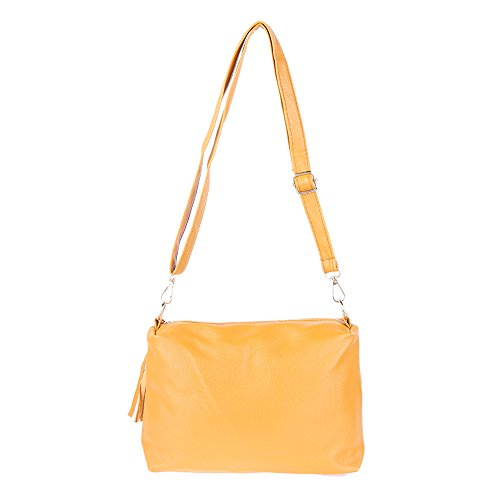 Travel Capacity Women Classic Yellow Purse Bag Demiawaking Bag Large Handbag Cross Shoulder Body v6qBWCRcW