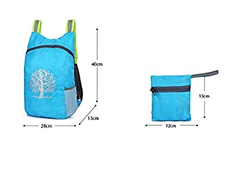 MYZLS Kids Lightweight Folding Waterproof Multifunction Portable Backpack Outdoor Sports Hiking Daypack