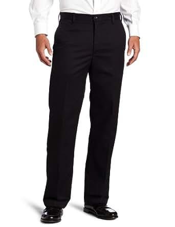 IZOD Men's American Chino Flat Front Straight Fit Pant, Black, 28x29