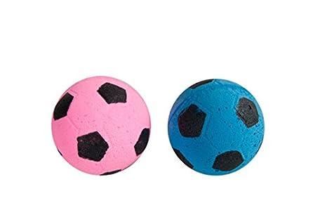 Karlie Cat Toy 2 - Balón de fútbol con Esponja (diámetro: 4 cm ...