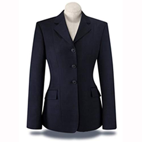 RJ Classics Ladies Diamond Collection Saratoga Show Coat Navy Plaid (14)