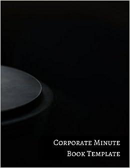 corporate minute book template insignia accounts 9781521221624