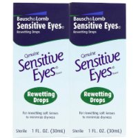 Bausch & Lomb Sensitive Eyes Rewetting Drops for Soft Contact Lenses-1 oz, 2 pk