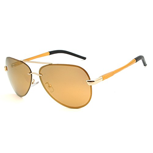 Sunglasse de tea Hombre para Sol XZP Gafas Gold Gafas de polarizadas Moda de protección UV Zxq7wHUpBw