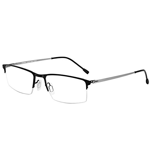 FUJUE Premium Computer Blue Light Blocking Metal Glasses Frame Anti-Fatigue Anti-reflective Anti-glare Eyewear Black - Do What Blocking Glasses Do Light Blue