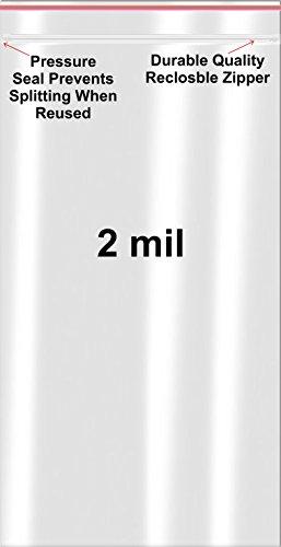 (1000 Premium Minigrip 3 x 5 Poly Bags 2 Mil Reclosable Redline Ziplock Bags USA)