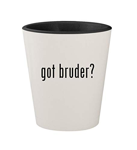 (got bruder? - Ceramic White Outer & Black Inner 1.5oz Shot Glass)