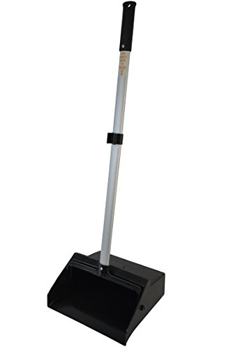 "(Janico 1085 Commercial Lobby Dustpan Upright, Aluminum Handle, 37"" Length, Black)"