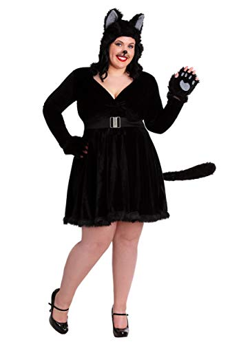 Plus Size Women's Black Cat Costume 2X