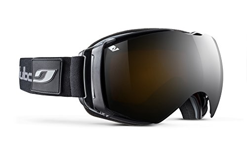 Julbo Mens Airflux Goggles, Black/Black Frames with Orange Lenses
