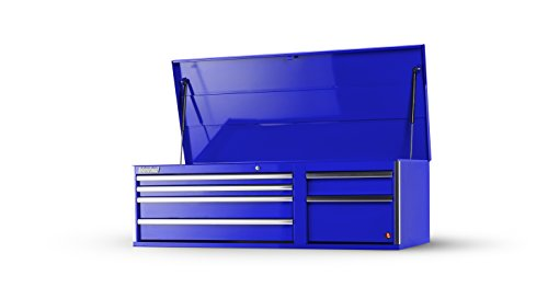 International VRT-5606BU 56-Inch 6 Drawer Blue Tool Cabinet with Heavy Duty Ball Bearing Drawer Slides (Drawer Series Cabinet Side 6)