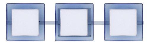 Besa Lighting 3WS-773592-CR 3WS Series Opal/Blue Chrome Wall 120v Vanity