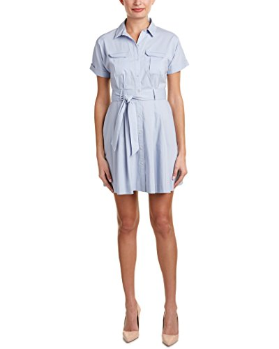 CeCe by Cynthia Steffe Women's Marni S Two Pocket Shirtdress, Salty Breeze, 6