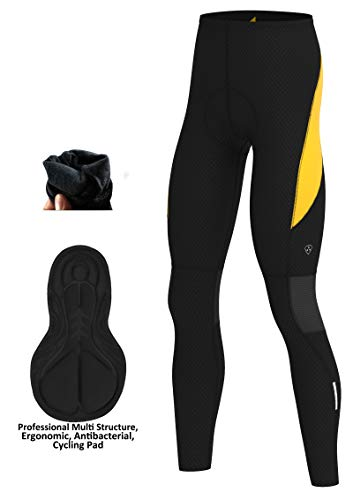 DHERA Mens Cycling Tights Winter Thermal Cold Wear Padded Legging Cycling Trouser