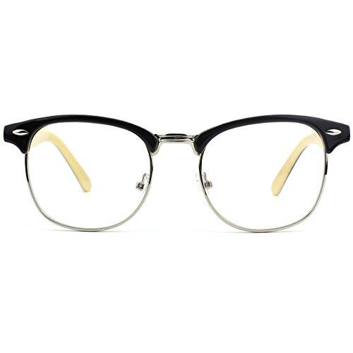 Half Frame Vintage Beige GQUEEN PF6 Inspiré Black lunettes Clear UBFwx
