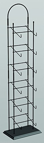 6-tier Base Ball Counter Top Display Cap Tower Black Rack 6-8 Hats Deep