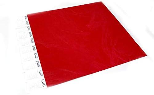 Twist4 250 x Rot TYVEK® (Dupont™) Einlassbänder Kontrollbänder Eintrittsbänder 250 Stück - Rot