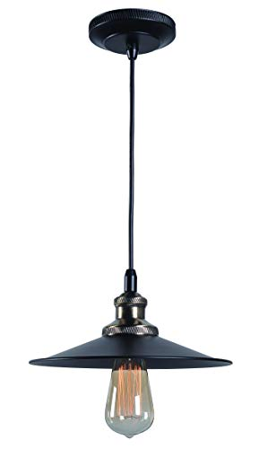 - Kenroy Home Ancestry 1 Lt Pendant - Small, Mini, Black/Antique Bronze Finish