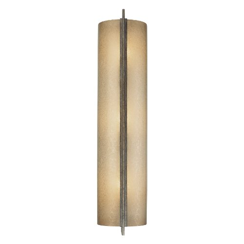 Minka Lavery Wall Sconce Lighting 4393-573, Clarte Glass Wall Lamp Fixture, 3 Light, 180 Watts, Patina