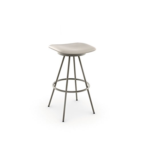 (Amisco Beacon Swivel Metal Counter Stool, 26-Inch, Titanium/Oyster)