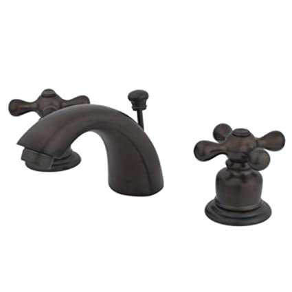 Kingston Brass KB955AX Mini Widespread Lavatory Faucet and Pop-Up ...