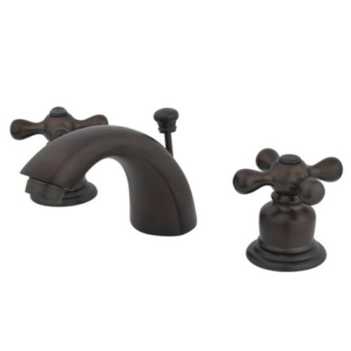 Kingston Brass KB955AX Mini Widespread Lavatory Faucet and Pop-Up, Oil Rubbed Bronze