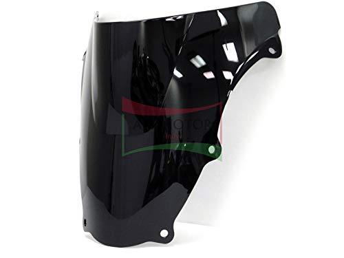 Protek ABS Plastic Injection Black Smoke Double Bubble Transparent Windscreen Windshield for 2003 2004 2005 2006 2007 2008 2009 2010 2011 2012 Suzuki SV650S SV650F SV650A SV650SF SV1000S