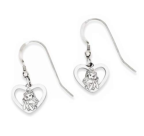 Mickey Dangle Wire Earrings - Roy Rose Jewelry Roy Rose Jewelry Sterling Silver Belle Heart Dangle Wire Earrings Trademark and Licensed