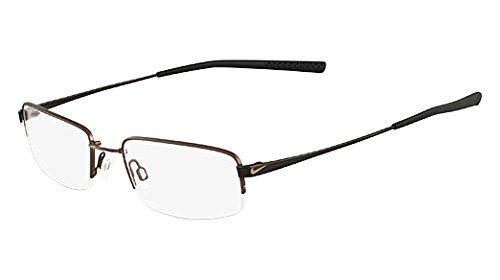Nike 4192 Eyeglasses (215) Walnut/Black Chrome, 51mm