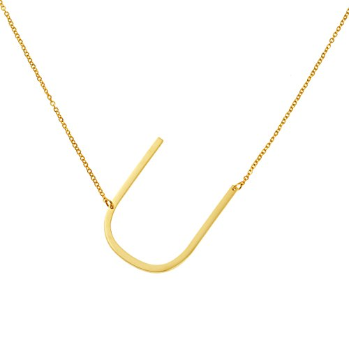 Yiyangjewelry Stainless Steel Jewelry Personalized Gift for Girls Initial Pendant Necklace 26 Letters