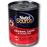 NutriSource Canned Dog Food Chicken/Lamb/Fish, My Pet Supplies
