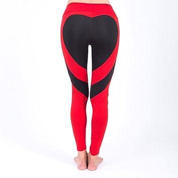 MAYUAN520 Sport Leotardos Mujer Sexy corazón Pantalones de ...
