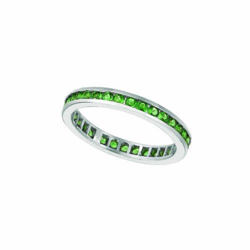 14k White Gold 0.75ctw. Tsavorite Eternity Band Ring