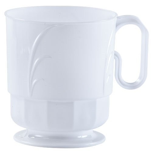 Lillian Tablesettings 40 Count Elegance Coffee Mug, 8 oz, Pearl ()