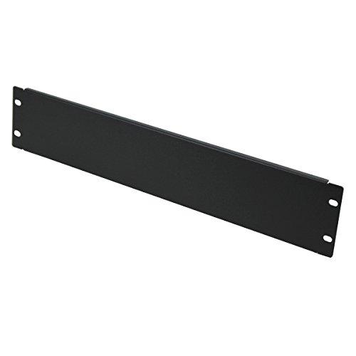Navepoint 2U Blank Rack Mount Panel Spacer For 19-Inch Server Network Rack Enclosure Or Cabinet Black