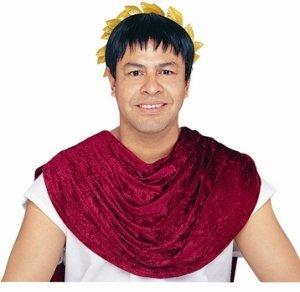 Black Toga Costumes (Black Roman Caesar Wig)