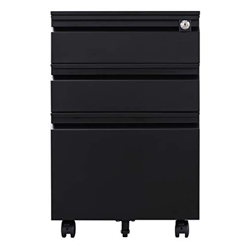 Mobile File Unit - Generic Metal 3 Pedestal Drawer Units Mobile Filing Cabinet A4 Storage Units with Wheel Multi Color Disassembled