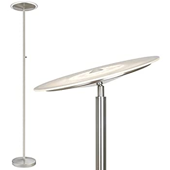 Perseus Modern Torchiere Floor Lamp with Reading Light LED